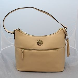 Anne Klein Michaela Hobo Bag Natural